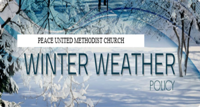 Peace Winter Weather Guidelines…..